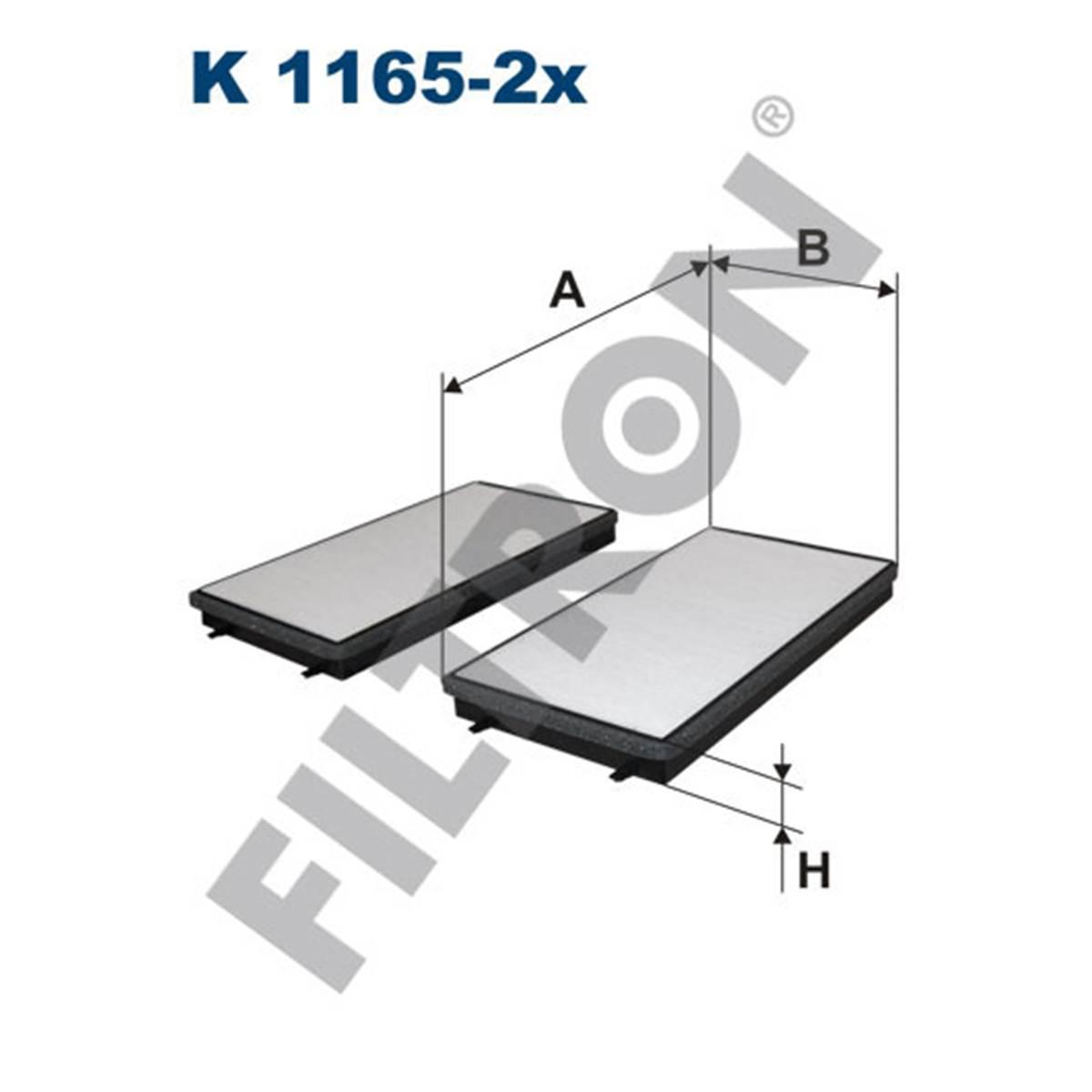Filtre d'habitacle Filtron K1165-2X