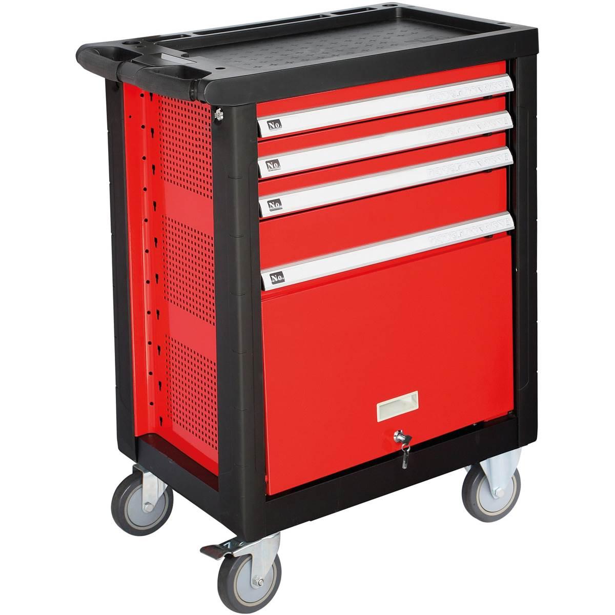 Servante d'atelier 4 tiroirs et 125 outils Z-COMP125AU AmPro