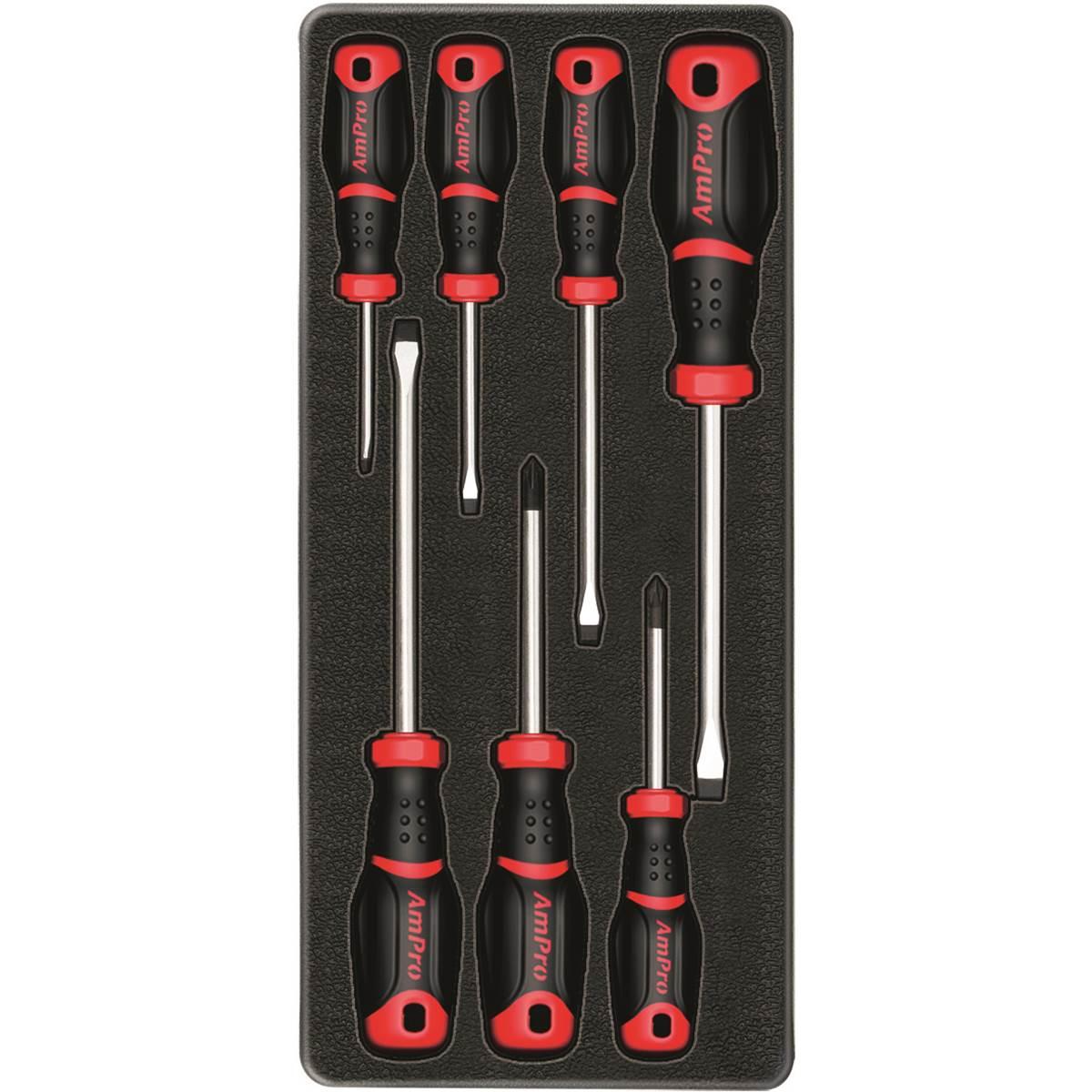 Servante d'atelier 7 tiroirs et 198 outils Z-COMP198AUK AmPro