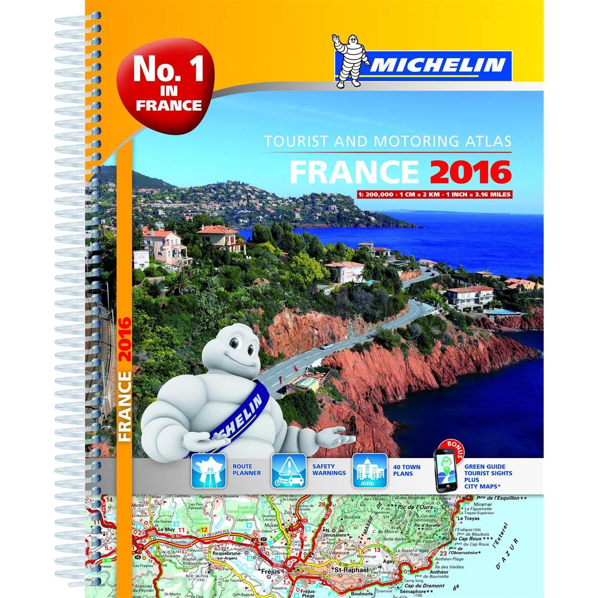 Atlas de France routier à spirale 2016 Michelin