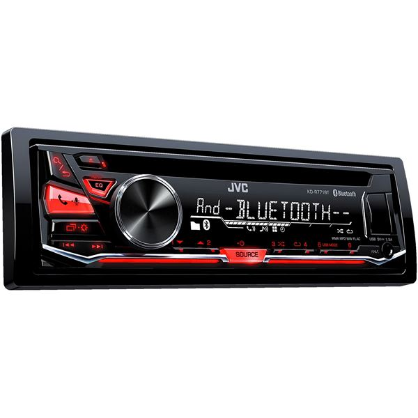 autoradio bluetooth jvc kd r771bt feu vert. Black Bedroom Furniture Sets. Home Design Ideas