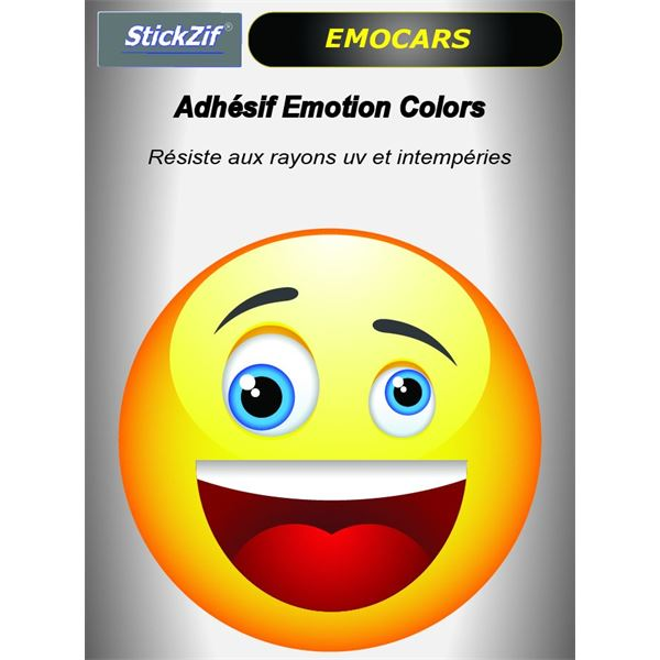 Sitcker voiture EMOCARS colors version 2 jaune