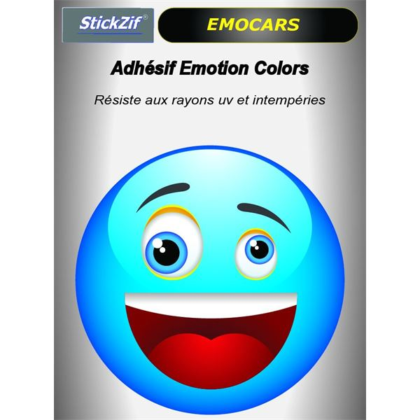 Sticker voiture EMOCARS colors version 2 bleu