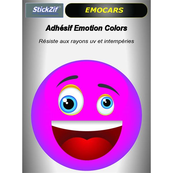 Sticker voiture EMOCARS colors version 2 magenta