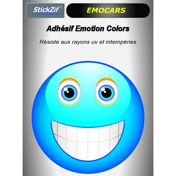 Sticker voiture EMOCARS colors version 3 bleu