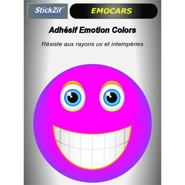 Sticker voiture EMOCARS colors version 3 magenta