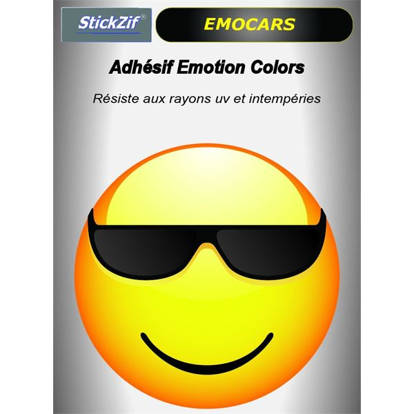 Sticker voiture EMOCARS colors version 4 jaune