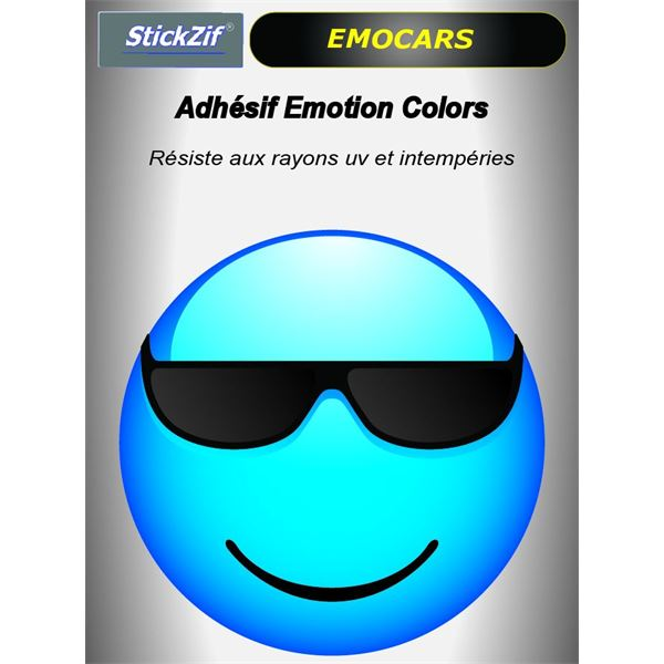 Sticker voiture EMOCARS colors version 4 bleu