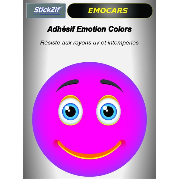Sticker voiture EMOCARS colors version 6 magenta