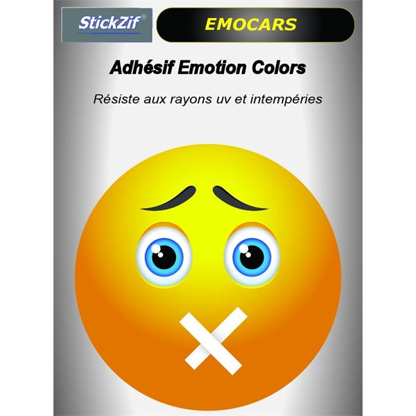 Sticker voiture EMOCARS colors version 7 jaune