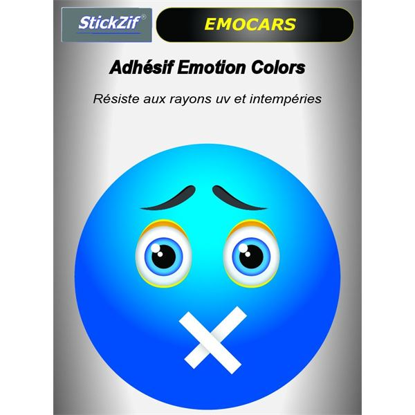Sticker voiture EMOCARS colors version 7 bleu