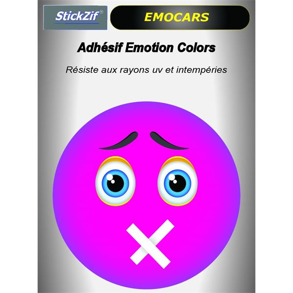 Sticker voiture EMOCARS colors version 7 magenta