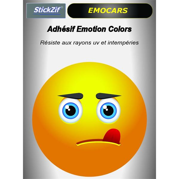 Sticker voiture EMOCARS colors version 8 jaune