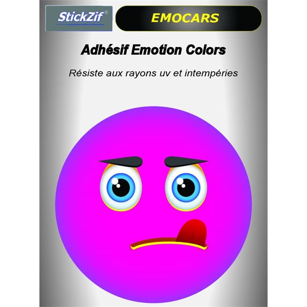 Sticker voiture EMOCARS colors version 8 magenta