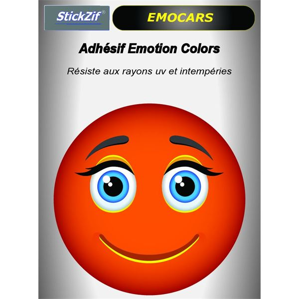 Sticker voiture EMOCARS colors version 9 orange