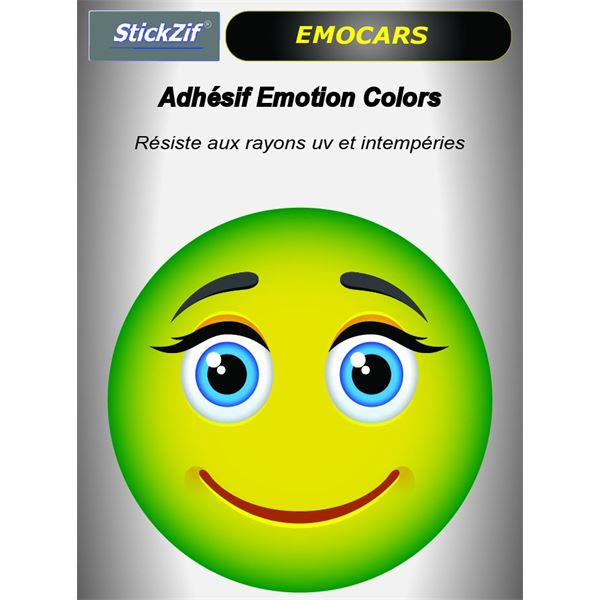 Sticker voiture EMOCARS colors version 9 pomme