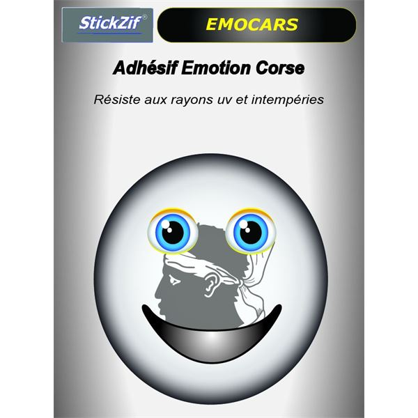Sticker voiture EMOCARS Corse