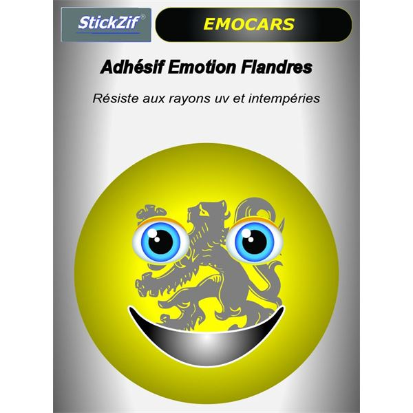 Sticker voiture EMOCARS Flandres