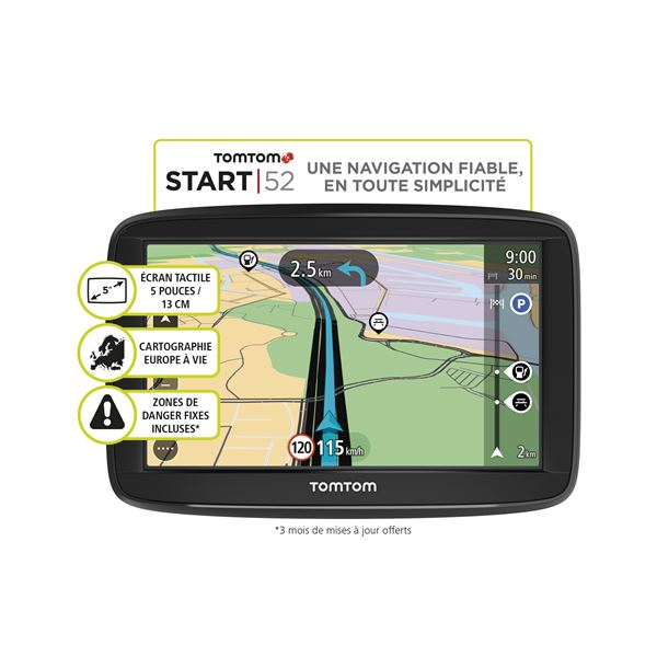 GPS Tomtom Start 52, 45 Pays