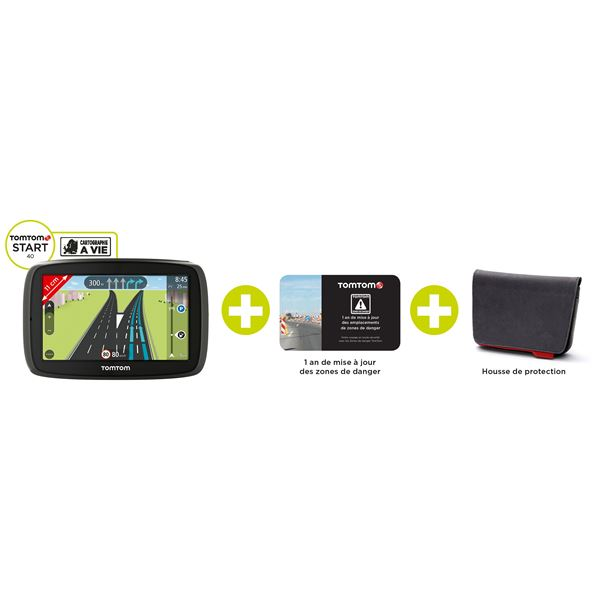 PACK GPS TOMTOM START 40 EU 45 + Housse + ZD