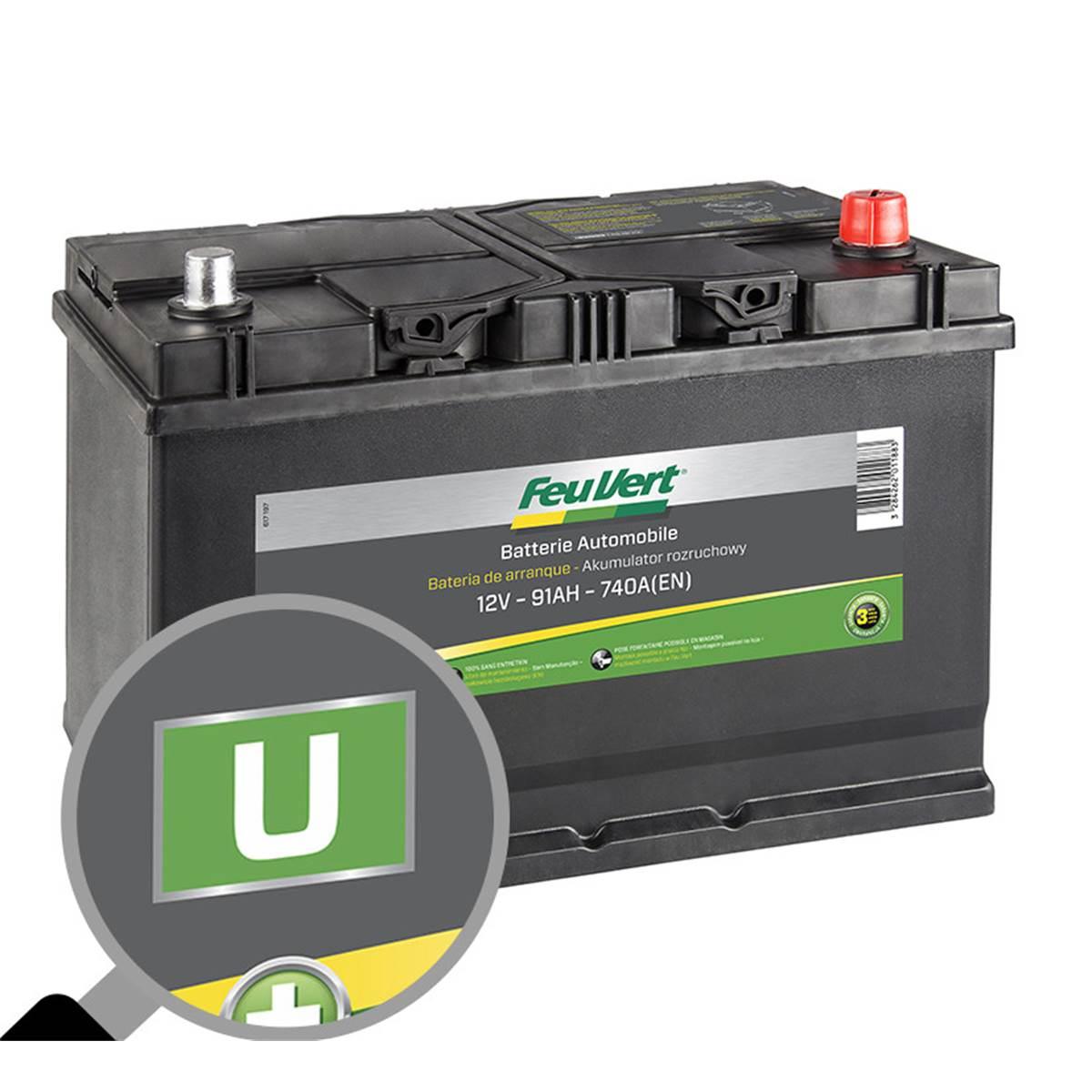 Batterie voiture Feu Vert U