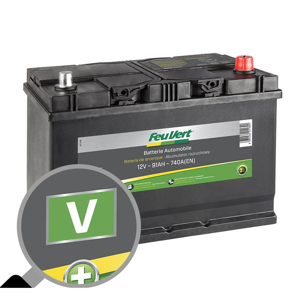 Batterie voiture Feu Vert V