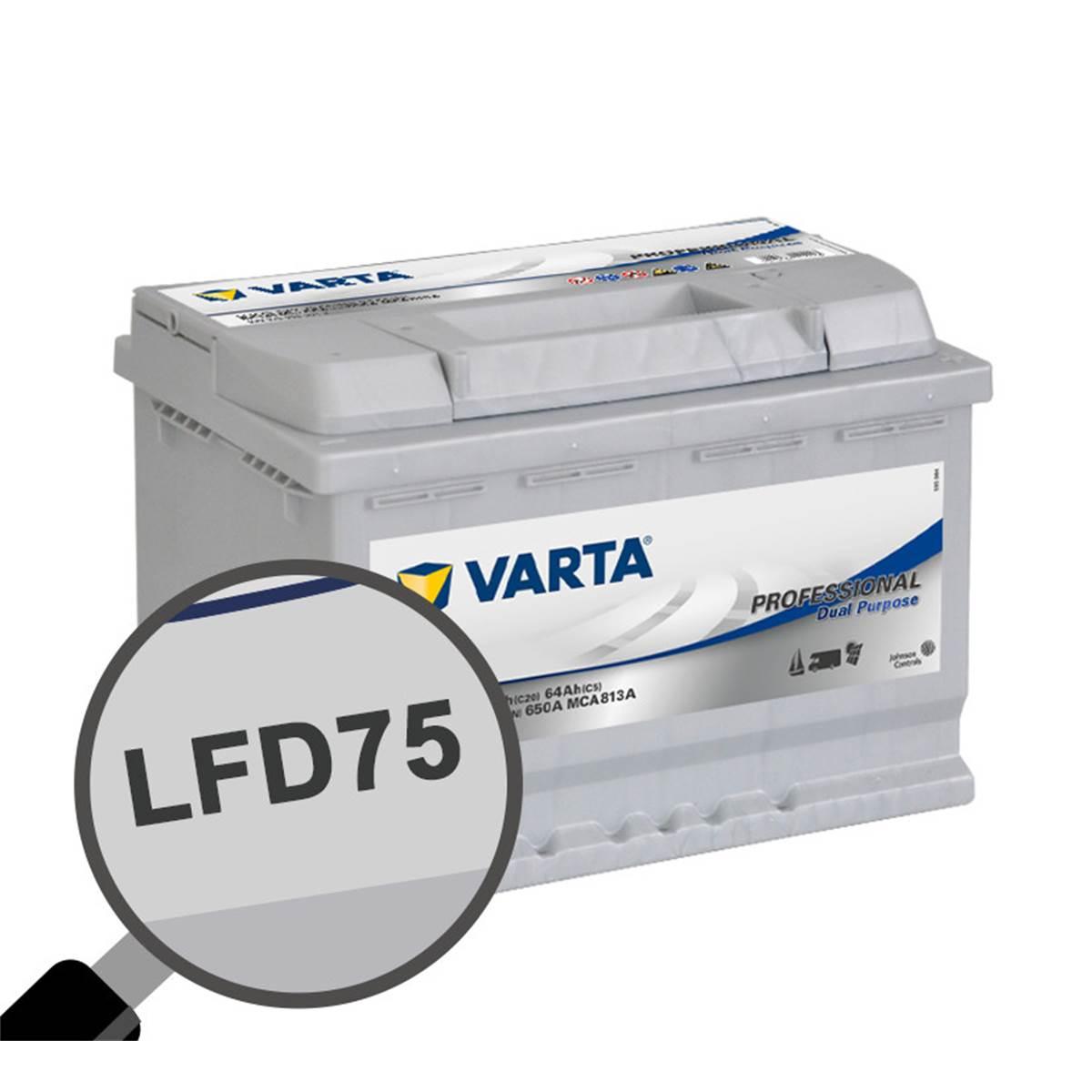 Batterie caravaning et nautisme Varta Professional LFD75