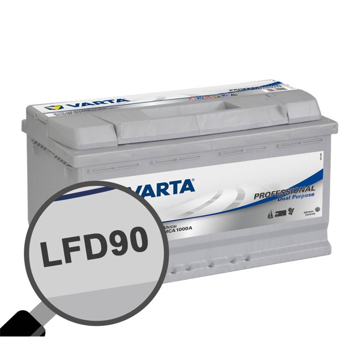 Batterie caravaning et nautisme Varta Professional LFD90