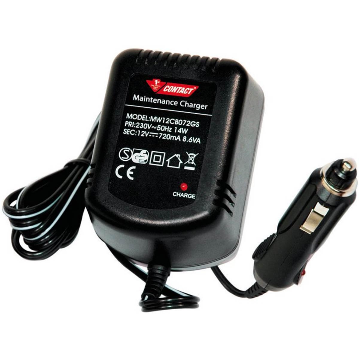 Chargeur de batterie 0,7 ampère Contact