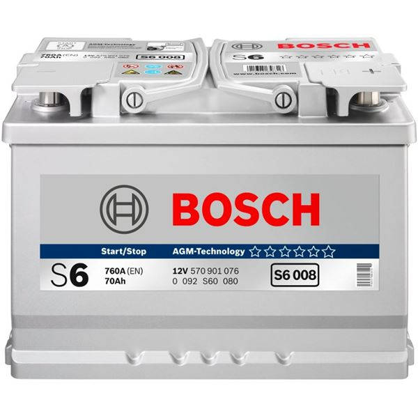 Batterie voiture Bosch Start-Stop AGM S6-013