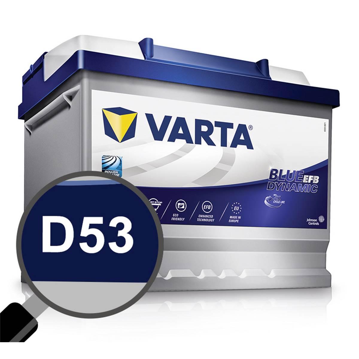 Batterie voiture Varta Start-Stop EFB D53