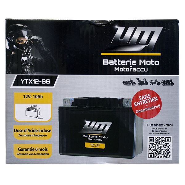 Batterie scooter et moto YTX12-BS