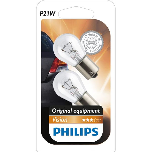 2 ampoules Philips Vision P21W