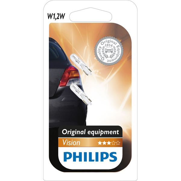 2 ampoules Philips Vision W1,2W