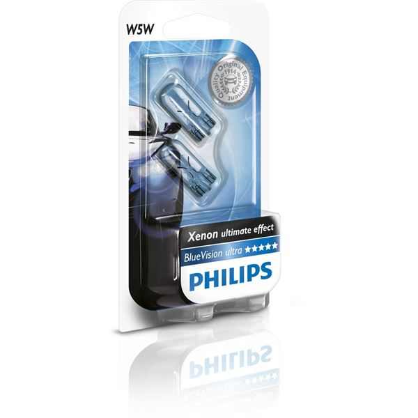 2 ampoules Philips Blue Vision W5W