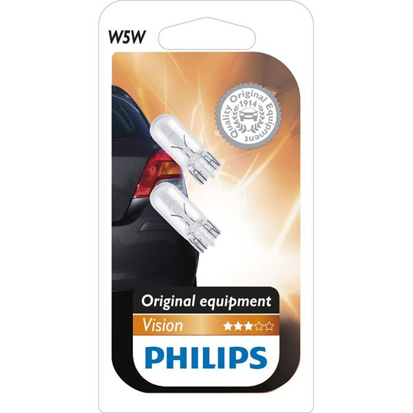 2 ampoules Philips Vision W5W