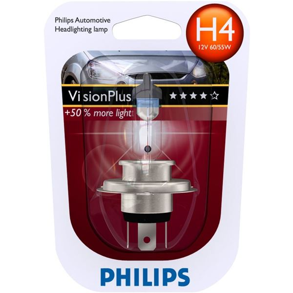 1 ampoule Philips H4 Vision Plus