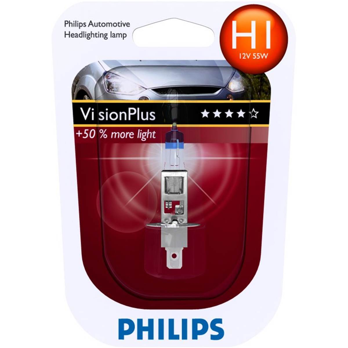 1 ampoule philips h1 vision plus. Black Bedroom Furniture Sets. Home Design Ideas
