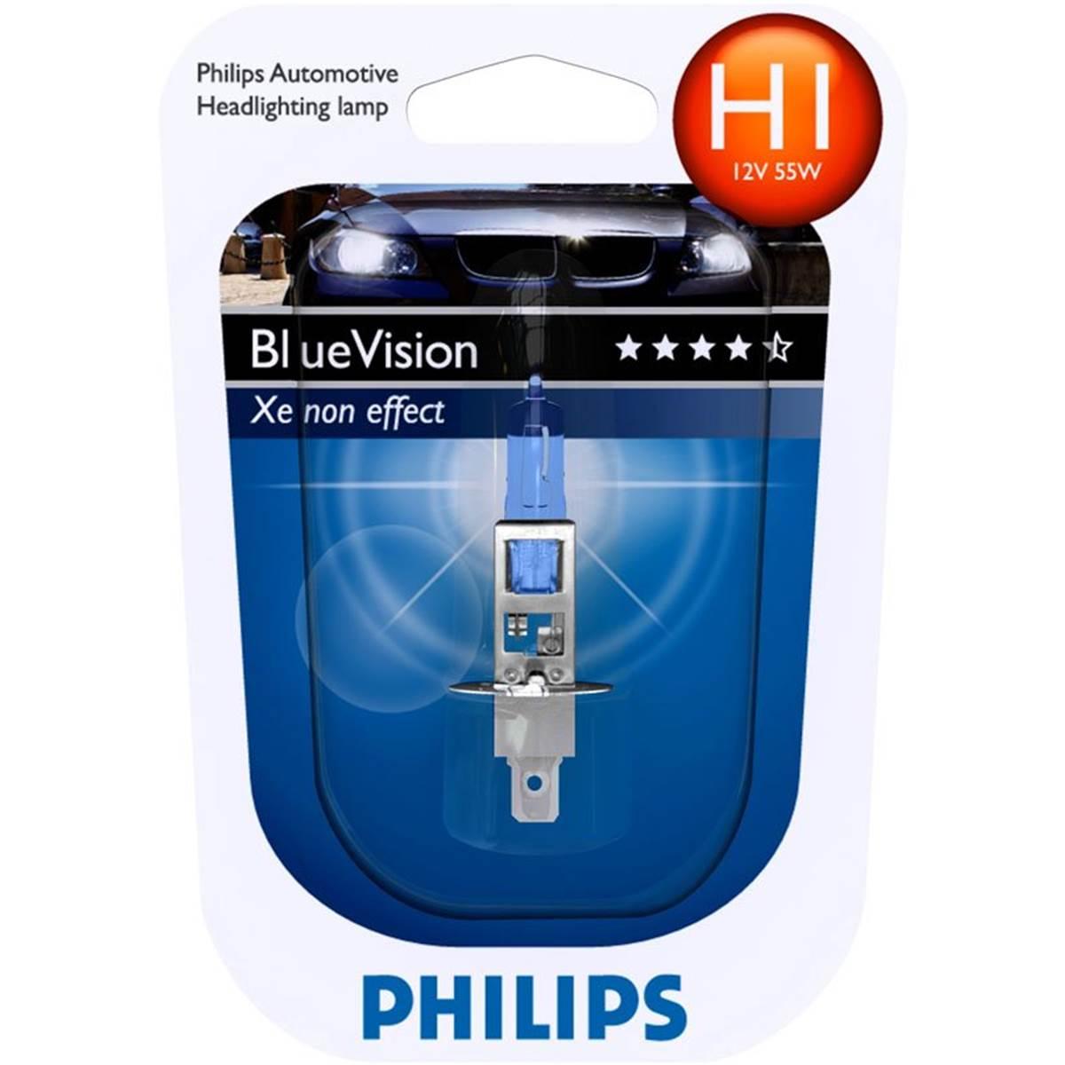 1 ampoule philips h1 blue vision. Black Bedroom Furniture Sets. Home Design Ideas