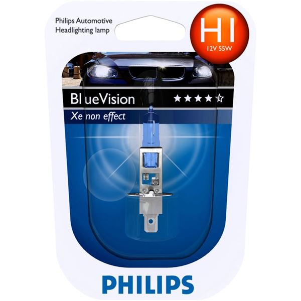 1 ampoule Philips H1 Blue Vision
