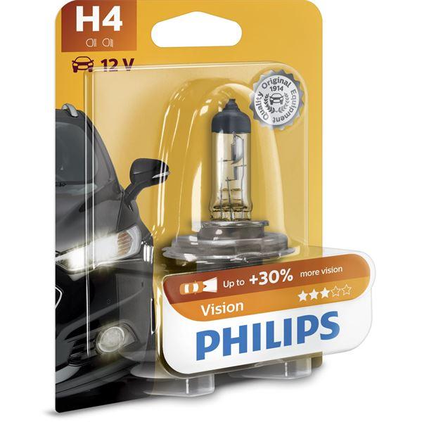 1 ampoule philips premium vision h4 feu vert. Black Bedroom Furniture Sets. Home Design Ideas
