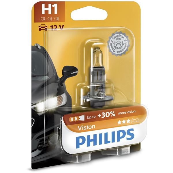 1 ampoule philips premium vision h1 feu vert. Black Bedroom Furniture Sets. Home Design Ideas
