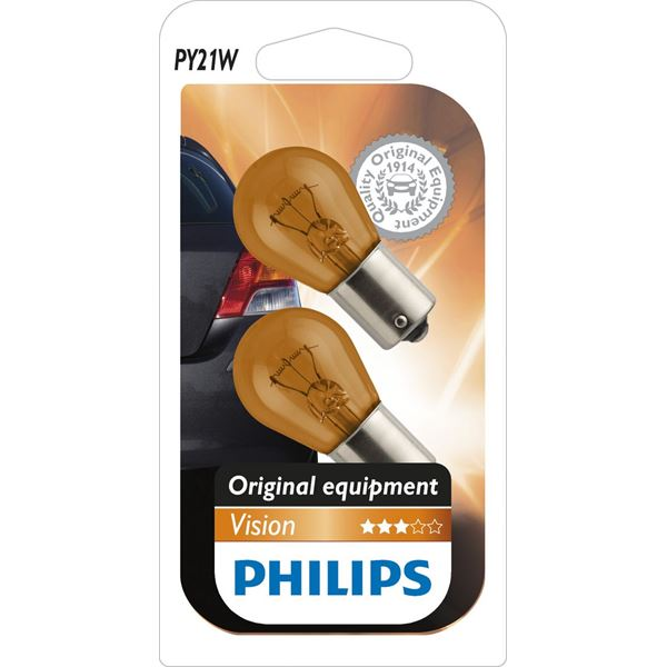 2 ampoules Philips Vision PY21W