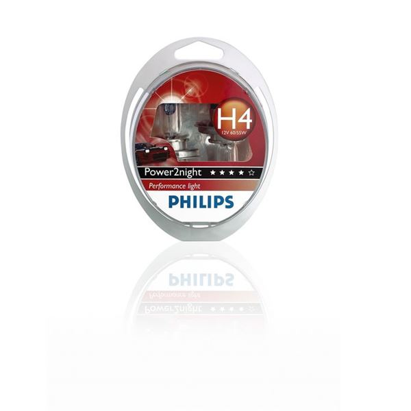 2 ampoules Power2Night Philips H4