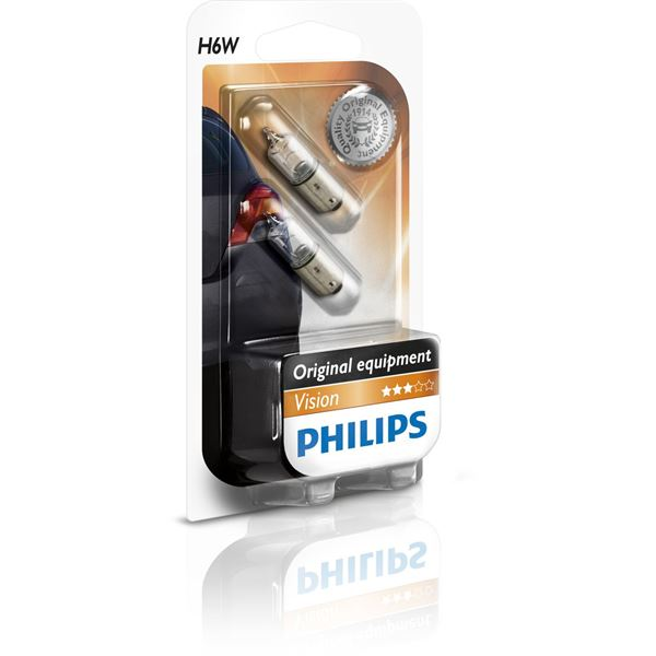 2 Ampoules Philips Vision H6W