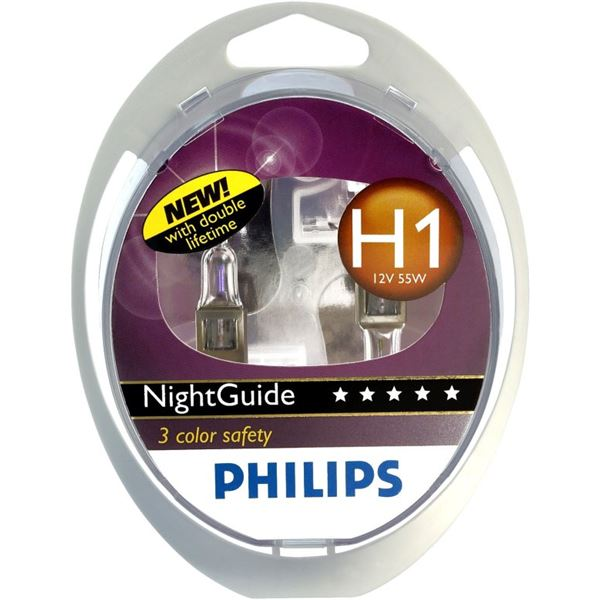 2 ampoules Philips H1 Night Guide