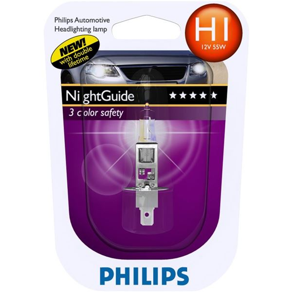 1 ampoule Philips H1 Night Guide