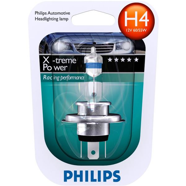 1 ampoule Philips H4 X-treme Power