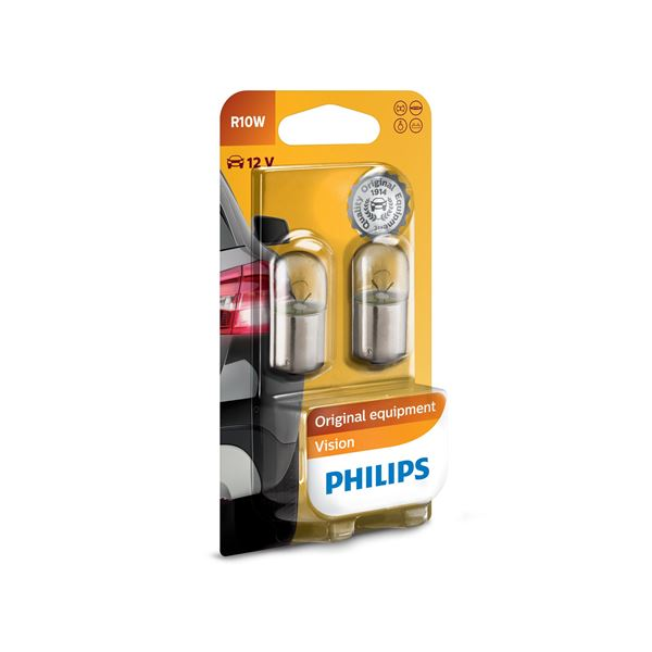 2 ampoules philips premium r10w feu vert. Black Bedroom Furniture Sets. Home Design Ideas