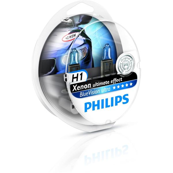 2 Ampoules Philips Blue Vision Ultra H1